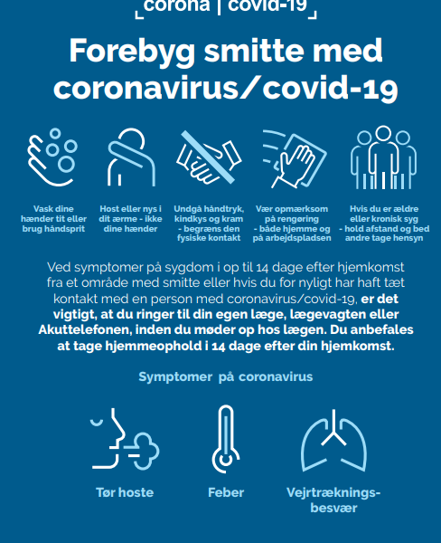 COVID-19 opdatering til mødeplanlæggere i Danmark